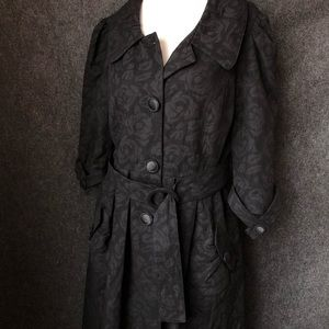 Gorgeous black pea coat with chandelier liner